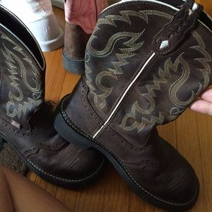 Justin gypsy cowboy boots Ariat fat baby women's